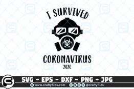 025 I survived coronavirus 2020 mask danger 3 2D Crafty Files   Home