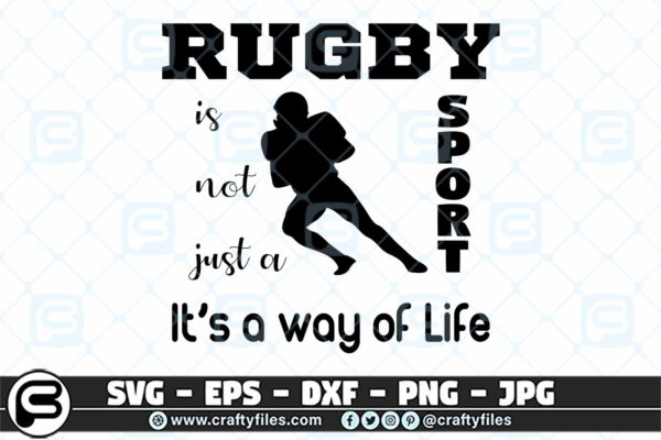 027 rugby is not just a sport its a way of life 3 2D Rugby Is Not Just A Sport It's A Way Of Life SVG