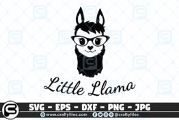 035 little llama 3 2D Craft Designs