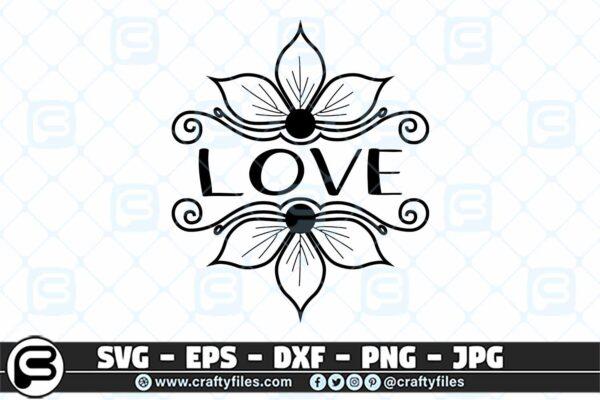 037 Love flower decoration graniture 3 2D Love Flower Decoration Garniture SVG