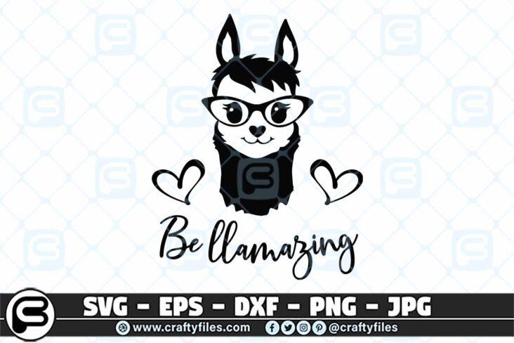 038 be llamazing 3 2D Llama SVG, Be Llamazing SVG, Llama Head SVG