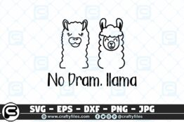 042 No dram llama 3 2D Craft Designs