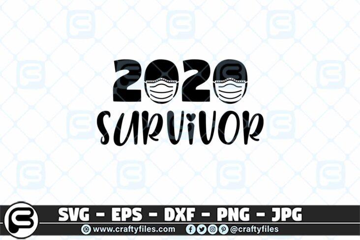 050 2020 Survivor 3 2D 2020 Survivor SVG, Medical Mask SVG, Quarantined SVG