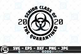 060 SENIOR CLASS OF 2020 The Quarantine Class 3 2D Craft Designs
