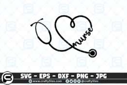 076 Nurse Stechoscope 3 2D Craft Designs