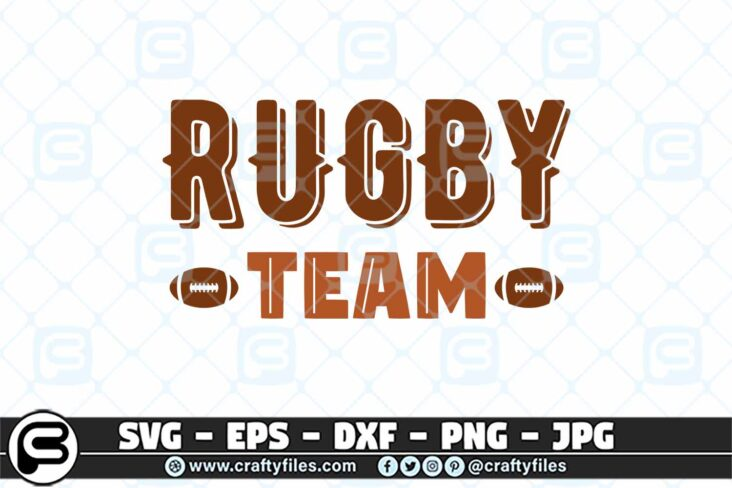 079 rugby Team Ball 3 2D Rugby Team SVG, Rugby sport SVG, Rugby Ball SVG Cut Files