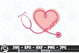 080 Nurse Stechoscope love nurse heart 3 2D Crafty Files   Home