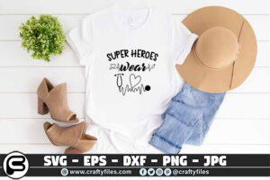 082 super heroes wear Scrubs stethoscope 3 2T Super Heroes Wear Scrubs SVG Stethoscope PNG Cutting File