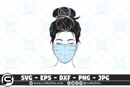 087 Nurse head with stethoscope SVG 3 2D Craft Designs