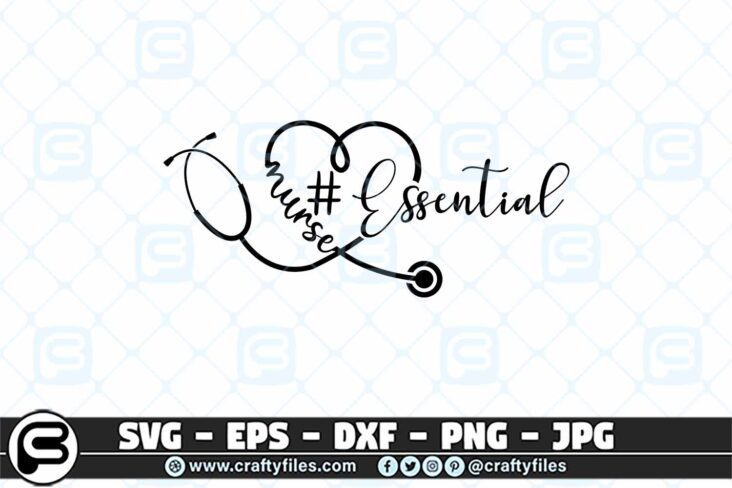 092 Nurse stethoscope essential 3 2D Essential SVG Stethoscope SVG Nurse SVG for Cricut