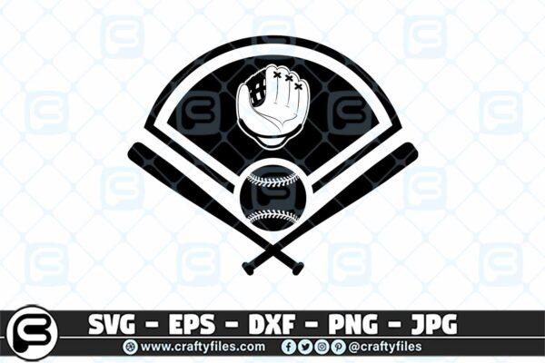 099 BaseBall Bat Ball glove SVG 3 2D Baseball SVG Bat Glove Cap PNG Cutting Files
