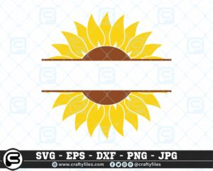 119 Sunflower yellow text in the midle CF0 Craft Designs