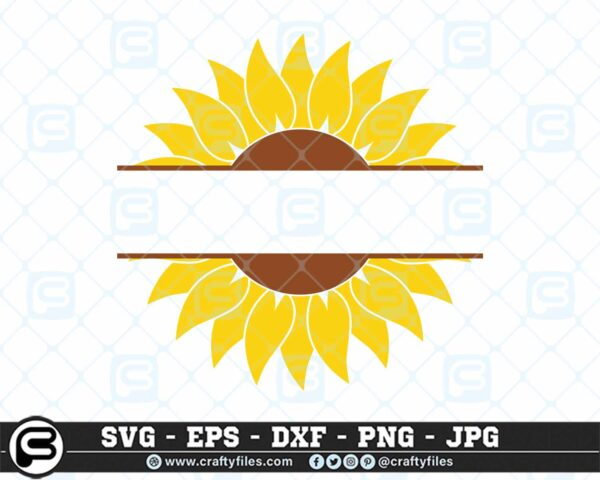 119 Sunflower yellow text in the midle CF0 Sunflower SVG Custom Text SVG Cutting Files For Cricut