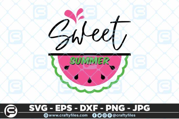 157 Sweet summer 5 4D Summer weet Summer watermelon SVG, Cutting file, SVG,