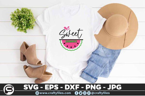 157 Sweet summer 5 4T Summer weet Summer watermelon SVG, Cutting file, SVG,