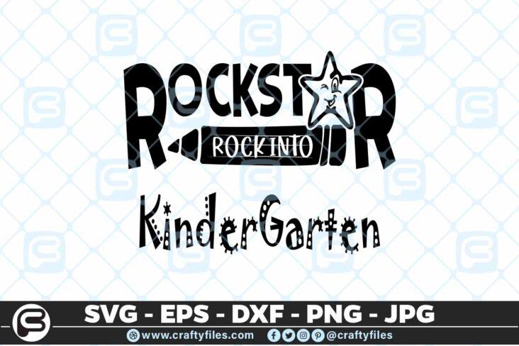 164 Rockstar rock into shcool grade kindergarten 5 4D Rockstar rock into Kindergarten grade school, Cutting file, SVG
