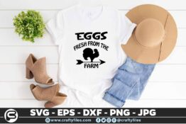 169 Chicken Egges frech 5 4T Eggs Fresh from the Farm, Chicken Eggs SVG DXF