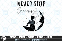 171 Never stop dreaming Fairy 5 4D Craft Designs