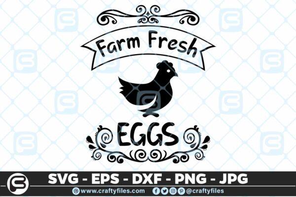 172 Farm fresh. eggs 5 4D Eggs Fresh from the Farm, Chicken Eggs SVG DXF