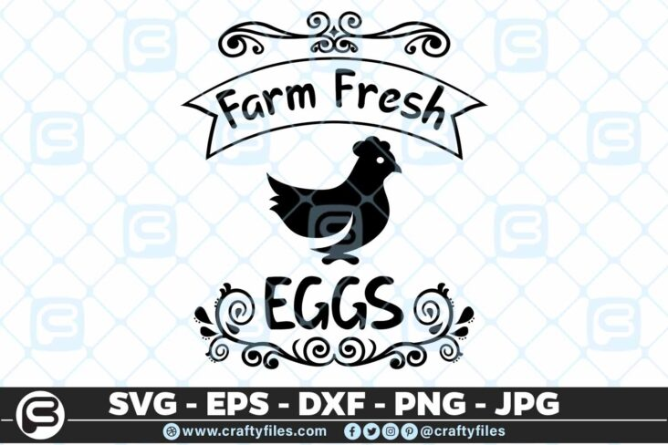 172 Farm fresh. eggs 5 4D Eggs Fresh from the Farm, Chicken Eggs SVG DXF