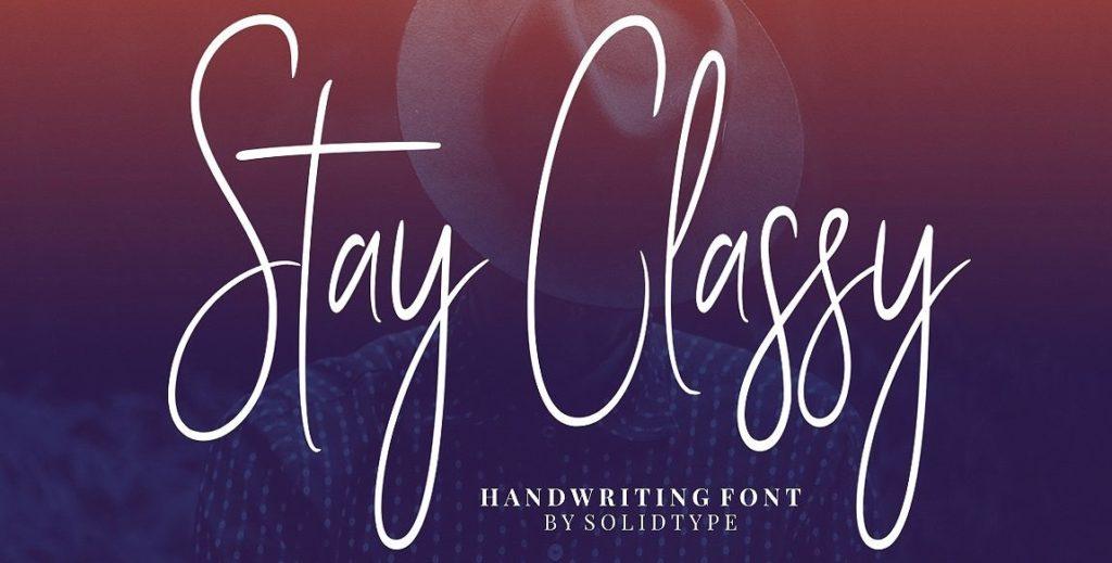 stay classy script font 10 Best Free Fonts For Designer You Should Download