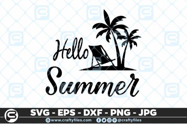 186 hello summer 5 4D Hello Summer SVG Beach time EPS PNG Beaching time SVG