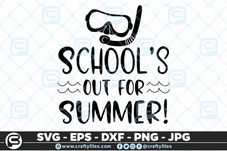 188 Schools our for summer 5 4D Schools Out For Summer SVG Beach time EPS PNG Beaching time SVG