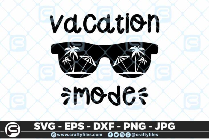 191 Beaching vacation mode 5 4D Beaching Vacation Mode SVG Summer time EPS PNG Sunglasses SVG