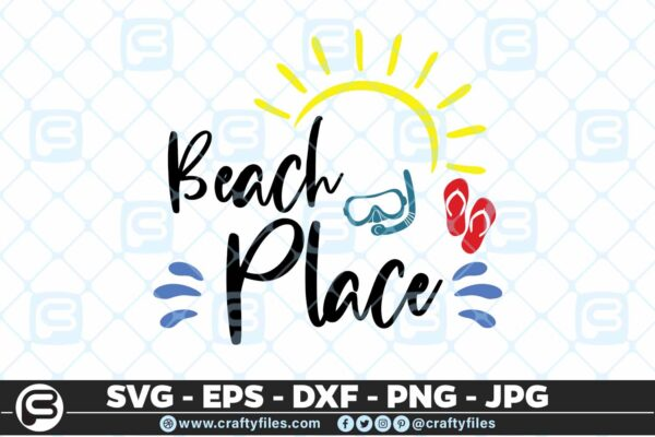 195 Beach place 5 4D Beach Place SVG Summer time SVG Beach time EPS PNG