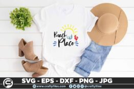195 Beach place 5 4T Beach Place SVG Summer time SVG Beach time EPS PNG