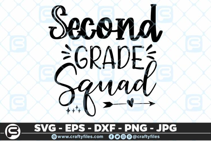 201 2 Back to school 2nd Grade Squad 5 4D Back To School 2nd Grade Squad SVG arrow PNG EPS DXF
