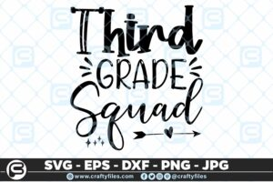 201 3 Back to school 3th third Grade Squad 5 4D The Mega Bundle! Back To School Bundle SVG, Exclusive Price