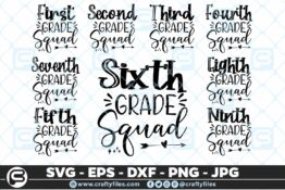 201 Back to school all Grade Squad 5 4D Bundles