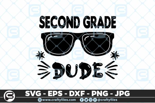 209 2 Back to school 2nd Grade Sunglasses Dude 5 4D Back to school SVG 2nd Grade Dude SVG Sunglasses SVG First Day At School