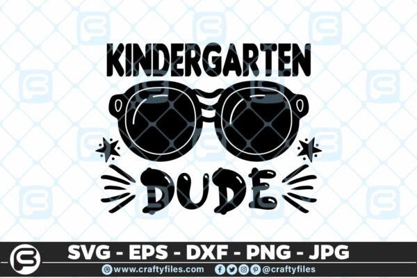 209 8 Back to school kindergarten Grade Sunglasses Dude 5 4D Back to school SVG kindergarten Dude SVG Sunglasses SVG First Day At School