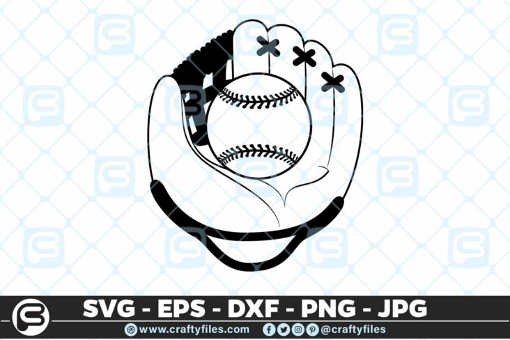 101 base ball gauns 5 4D Baseball Glove and Ball SVG PNG For Cricut