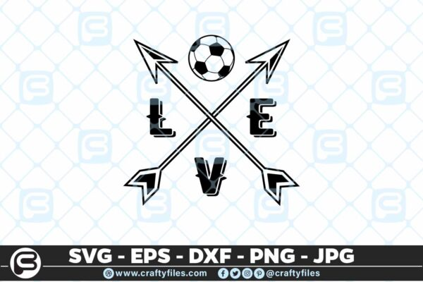 102 Love Soccer SVG Soccer SVG Soccer mom SVG Soccer T shirt SVG 5 4D Love Soccer SVG Soccer SVG PNG Cutting Files