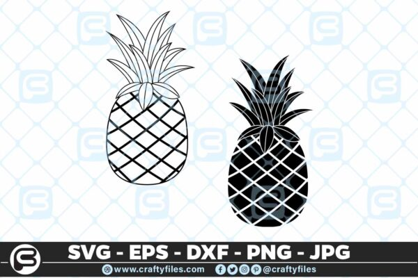 108 Ananas Pine Apple 5 4D Ananas Pine Apple Pineapple SVG PNG Cut file