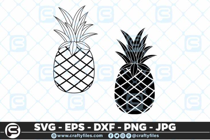 108 Ananas Pine Apple 5 4D Ananas Pine Apple Pineapple SVG PNG Cut file