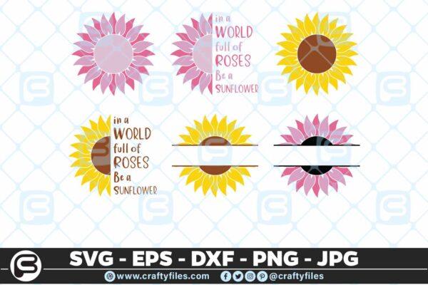 117 Sunflowers bundles 01 5 4D Flower SVG, Sunflower SVG Bundle Cutting Files For Cricut