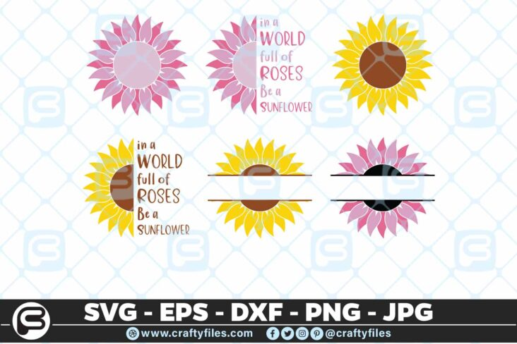 117 Sunflowers bundles 01 5 4D Flower SVG, Sunflower SVG Bundle Cutting Files For Cricut