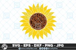 118 Sunflower yellow 5 4D Bundle of Sunflower SVG Craft Design Floral SVG