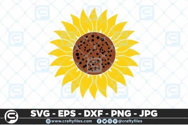 118 Sunflower yellow 5 4D Flower SVG, Sunflower SVG  Cutting Files For Cricut