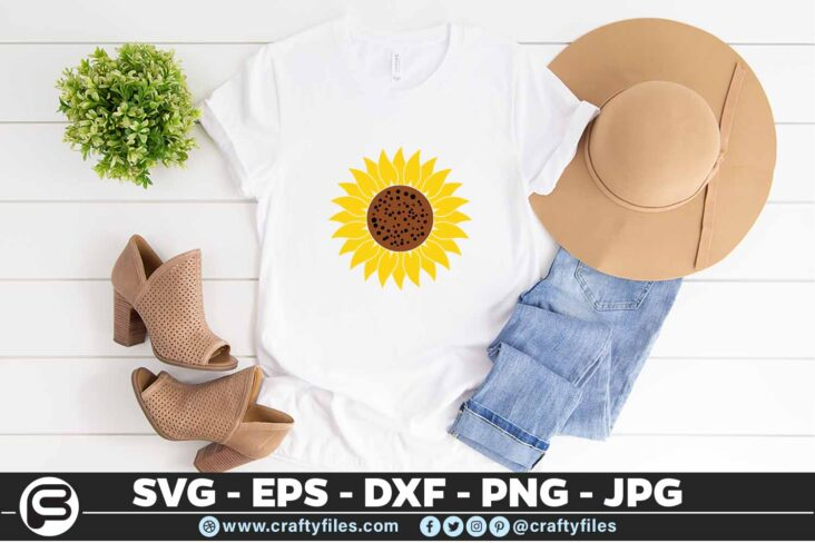 118 Sunflower yellow 5 4T Flower SVG, Sunflower SVG Bundle Cutting Files For Cricut