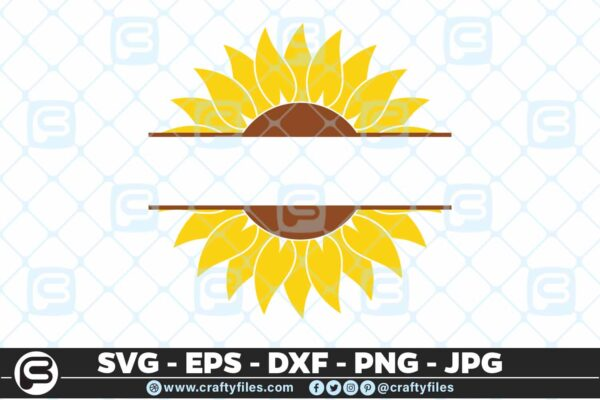 119 Sunflower yellow text in the midle 5 4D Sunflower SVG Custom Text SVG Cutting Files For Cricut