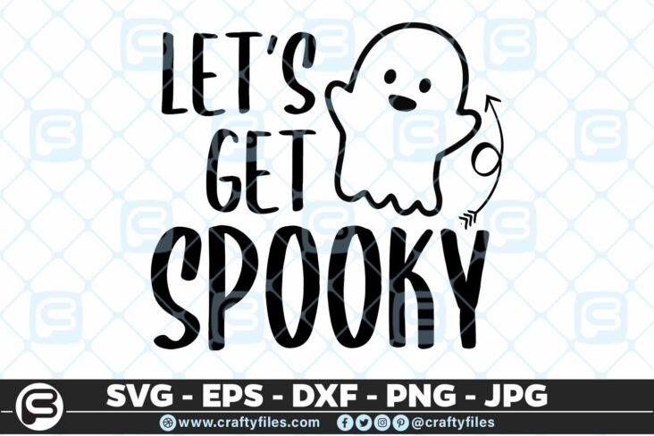 122 lets get spooky 5 4D Let's get spooky, Cutting file, SVG, PNG, EPS