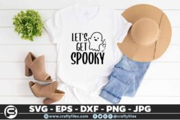 122 lets get spooky 5 4T Let's get spooky, Cutting file, SVG, PNG, EPS
