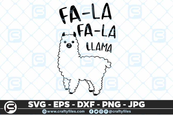 125 Fala fala Llama 5 4D Fala Fala Llama, Cutting file, SVG, PNG, EPS