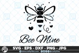 134 Bee Mine Happy bee 5 4D Bundle of Bee SVG Happy Bee and Bee Kind SVG EPS