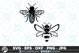136 Bee insect SVG Cut file 5 4D Bundle of Bee SVG Happy Bee and Bee Kind SVG EPS